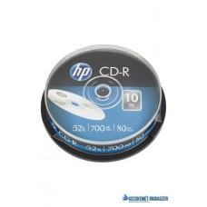 CD-R lemez, 700MB, 52x, 10 db, hengeren, HP