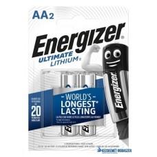Elem, AA ceruza, 2 db, Lítium, ENERGIZER 'Ultimate Lithium'