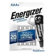 Elem, AAA mikro, 4 db, Lítium, ENERGIZER 'Ultimate Lithium'
