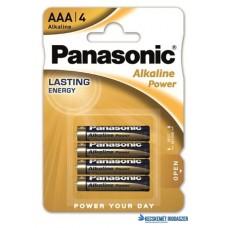 Elem, AAA mikro, 4 db, PANASONIC 'Alkaline power'