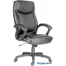 Főnöki szék, bőrborítás, fekete lábkereszt, 'Hawaii', fekete