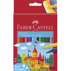 Filctoll készlet, FABER-CASTELL, 12 különböző szín'Castle'