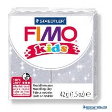 Gyurma, 42 g, égethető, FIMO 'Kids', glitteres ezüst