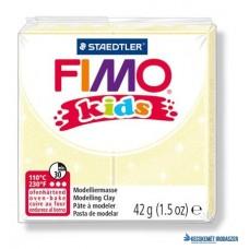 Gyurma, 42 g, égethető, FIMO 'Kids', gyöngyház sárga