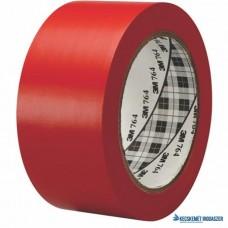 Ipari jelzőszalag, 50mm x 33m, 3M, piros