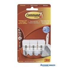 Mini műanyag akasztó fém kampóval, 3M 'Command'