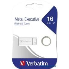 Pendrive, 16GB, USB 2.0,VERBATIM 'Executive Metal', ezüst