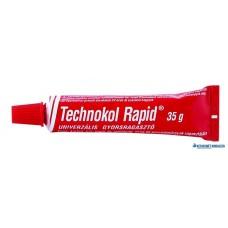 Ragasztó, folyékony, 35 g, TECHNOKOL 'Rapid', piros