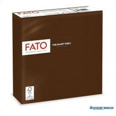 Szalvéta, 1/4 hajtogatott, 33x33 cm, FATO 'Smart Table', csokoládé barna