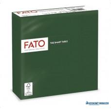 Szalvéta, 1/4 hajtogatott, 33x33 cm, FATO 'Smart Table', zöld
