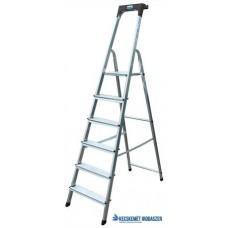 Állólétra, 6 lépcsőfokos, alumínium, KRAUSE 'Safety'
