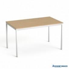 Általános asztal fémlábbal, 75x130 cm, MAYAH 'Freedom SV-38', kőris